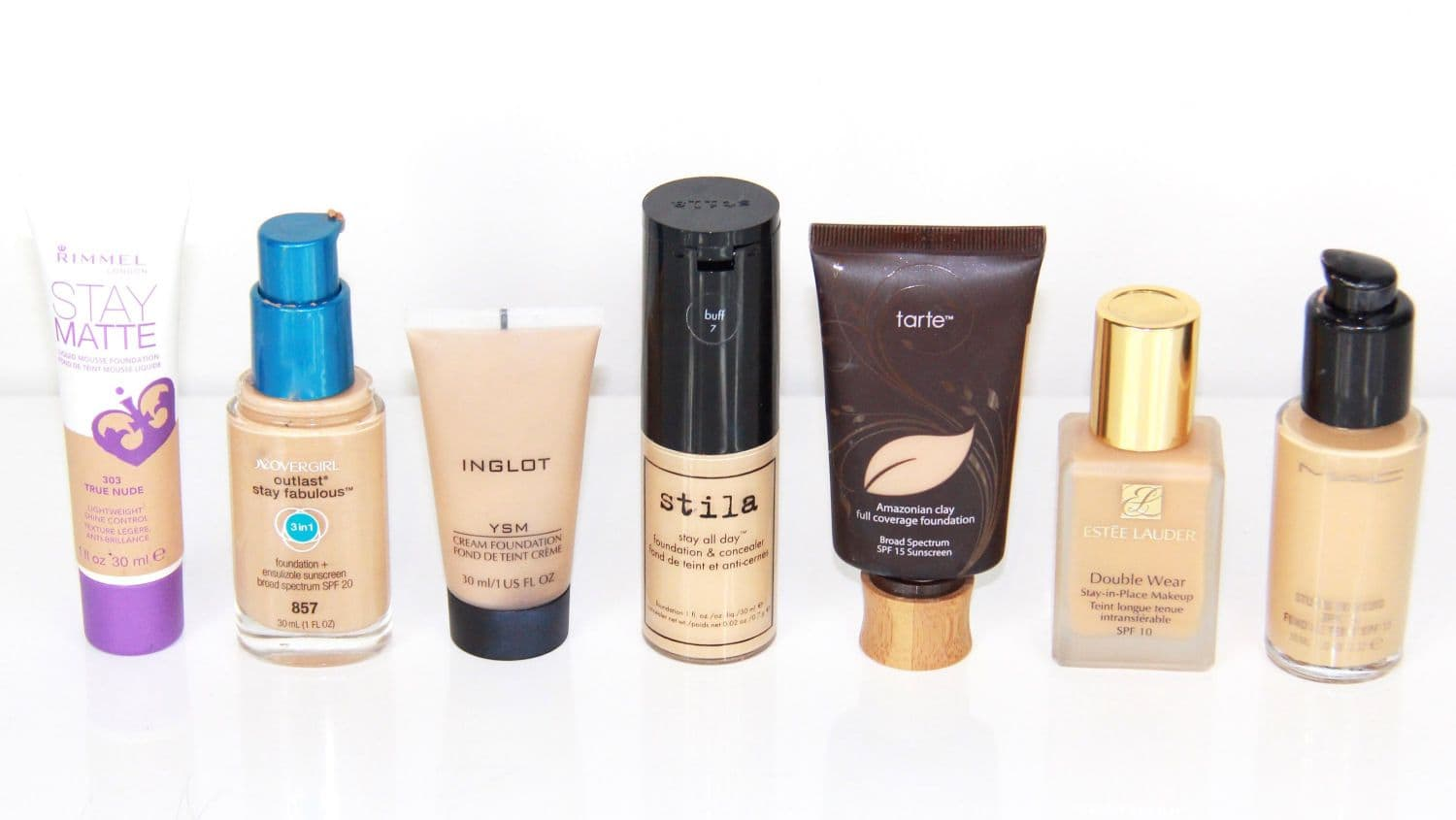 Oily skin foundations
