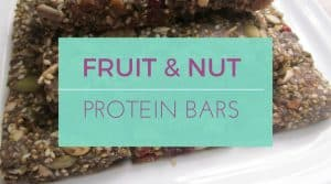Fruit and nut protein bars