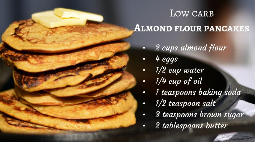 Low carb almond flour pancakes recipe
