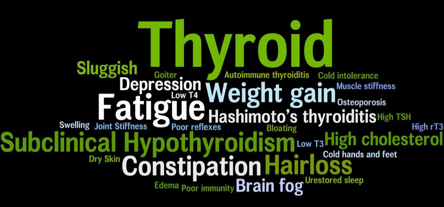 Most typical thyroid symptoms.