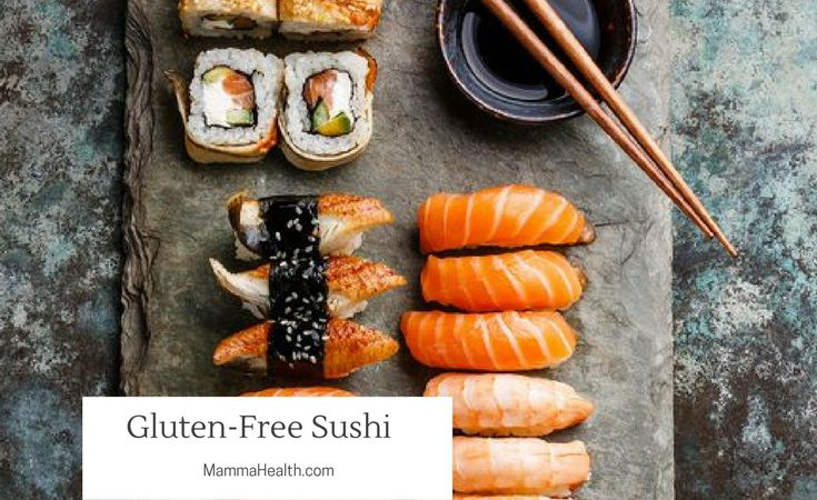 Sushi Is Naturally Gluten Free