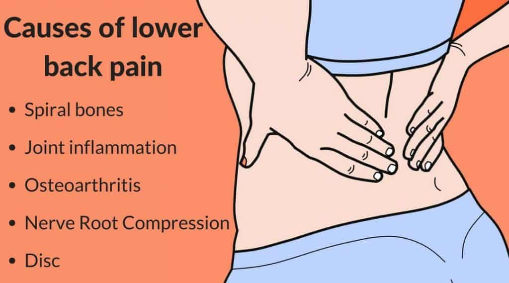 causes of the lower back pain