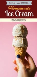 Paleo Ice Cream Dairy and Gluten Free