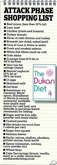 Dukan diet phase 1