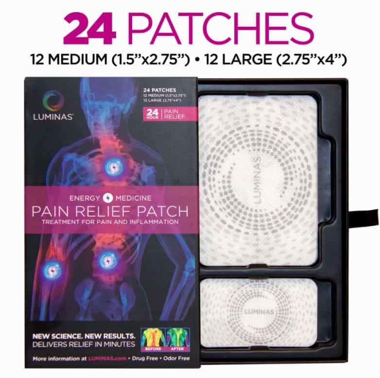 Luminas natural relief patches for chronic pain